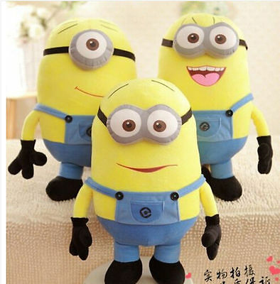 Despicable Me Plush Minion Soft Toy Stuffed Cuddly Teddy Doll 3D 7''