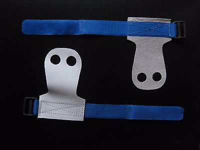 Suede Leather Gymnastics Handguards Grips For Recreational Beginners size small