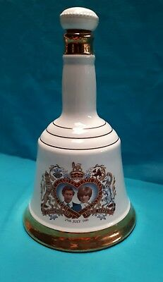 Commemorative Porcelain Decanter From Bell's Scotch Whisky Charles And Diana Wed