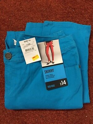 BRAND NEW - SKINNY JEANS - Size 14 - TURQUOISE