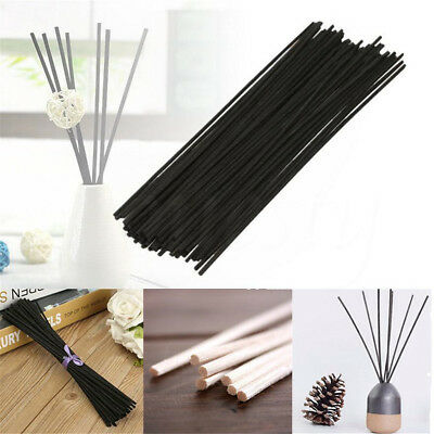 50X Rattan Reed Fragrance Oil Diffuser Replacement Refill Stick Reed White/Black