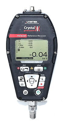 Crystal nVision 300bar RTD100 Digital Pressure Temp Recorder Calibrator WARRANTY