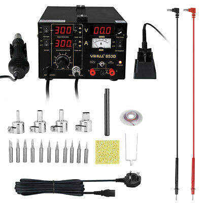 3in1 YIHUA 853D Hot Air Rework Soldering Iron Station Welding Desoldering Tool
