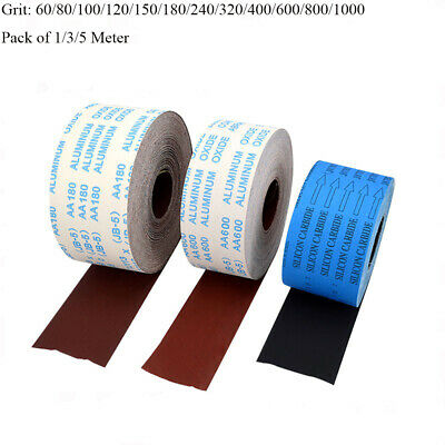 4'' 100mm Wide Emery Cloth Roll Aluminium Oxide Sanding Sandpaper 60 - 1000 Grit