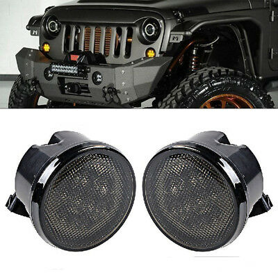 LED Daytime Running Lights Turn Signal Lamp Light For Jeep Wrangler JK 07-16 New