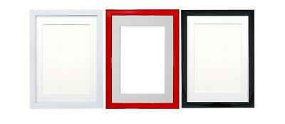 Black Or White Gloss Picture Frames With Quality Black White And Ivory Mounts