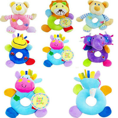 Baby Boys Girls Rattle Toys Newborn Animal Design Plush