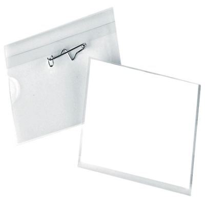 Pin Name Badge 40x75mm 8009299 (Pack of 100) [PV00929]