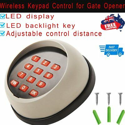 Wireless Keypad Control for Automatic Remote Sliding or Swing Gate Opener LED AU