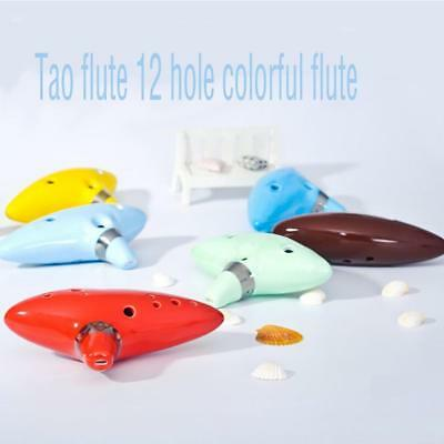 12 Hole Ocarina Ceramic Alto C Legend of Zelda Ocarina Flute Blue Instrument WS