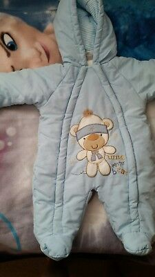 baby boy snowsuit 0-3 with mittens