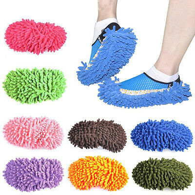 1Pcs Floor Dust Clean Shoes Mop House Clean Shoe Cover Multifunction Slippers