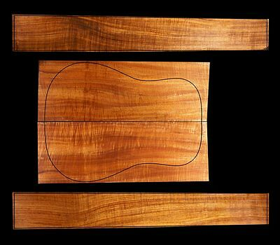 Figured Hawaiian Koa Acoustic or Classical Luthier Set - Guitar Back & Sides #1