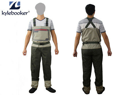 Fly Fishing Stocking Foot Chest Waders Affordable Breathable Waterproof Wader