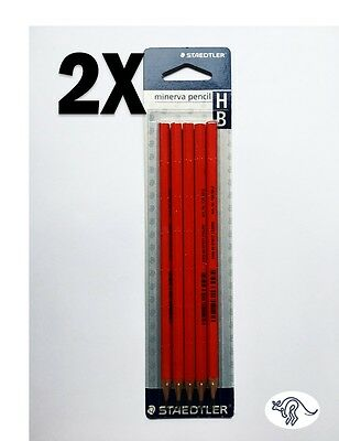 2X Staedtler Minerva Graphite Pencils HB  5 Pack