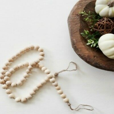 Wooden Bead String Kids Baby Bed Pendant Wall Room Decor Rustic Wedding Vase
