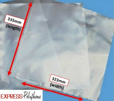 LP CLEAR POLYTHENE RECORD OUTER COVERS LUXURY GRADE 323 X 335mm PACK OF 100