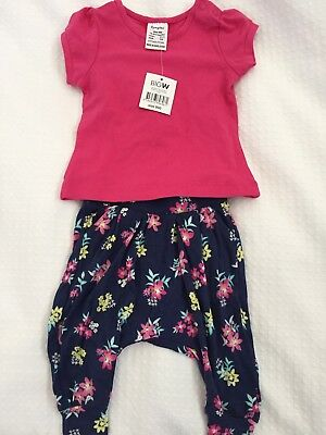 BNWT Baby Girls Size 000 Dymples Clothes Bundle (3 X Tops & 2 X Harem Pants)
