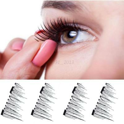 HOT Reusable Double Magnetic False Eyelashes With Magnet Lashes Ladies' Cosmetic