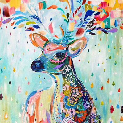 5D DIY Diamond Canvas Embroidery Painting Cross Stitch E236 20*20cm Deer S2