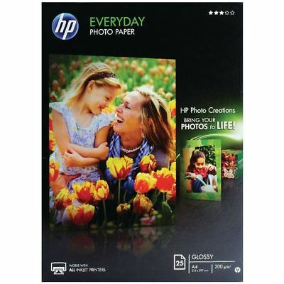HP A4 White Everyday Glossy Photo Paper 200gsm (Pack of 25)  [HPQ5451A]