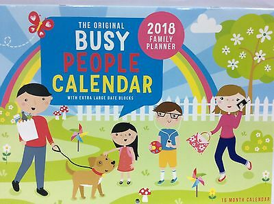 2018 busy people 16 month calender