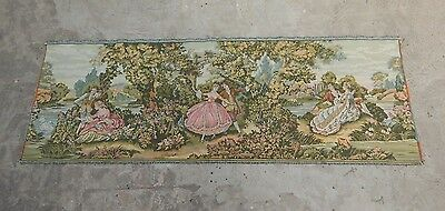 Vintage French Beautiful Romantic Scene Tapestry 203X71cm (A1105)
