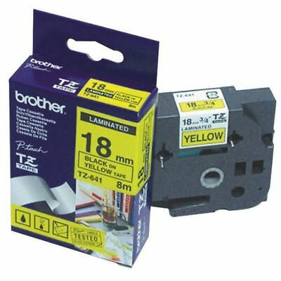 Brother P-Touch 18mm Black on Yellow TZE641 Labelling Tape [BA8109]