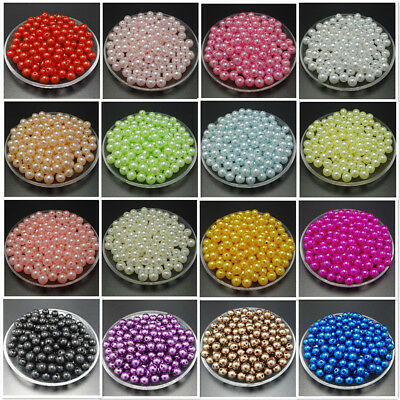20 colors 4mm 6mm 8mm 10mm Acrylic Round Pearl Spacer Loose Beads Jewelry Making