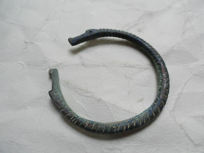 Nordic Viking Period Bracelet Depicting Dragon Heads