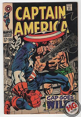 Captain America #106 10/68 Silver Age Marvel Comics STAN LEE JACK KIRBY