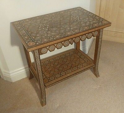 """ABSOLUTELY STUNNING EARLY/MID 20thC INTRICATELY INLAID """"SYRIAN"""" SIDE TABLE"""