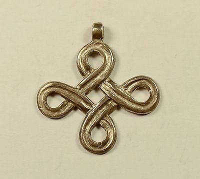 Richly Decorated Open-Work Silver Viking Era Style Cross Pendant - Wearable