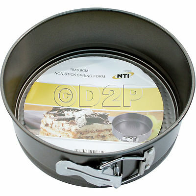 18Cm Non Stick Spring Form Deep Round Cake Tin Cooking Baking Cookie Pan