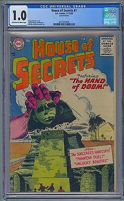 DC Comics HOUSE OF SECRETS #1 - CGC 1.0  1956