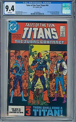 TALES OF THE TEEN TITANS #44 - CGC 9.4 WP NM First NIGHTWING JERICHO