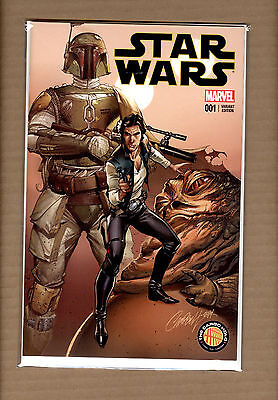 Star Wars #1  J Scott Campbell Variant The Cargo Hold Exclusive  Nm-