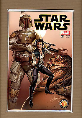 Star Wars #1  J Scott Campbell Variant The Cargo Hold Exclusive  Vf/nm
