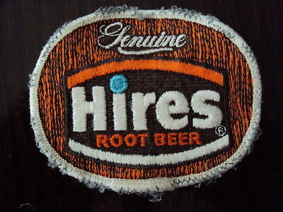 VINTAGE POP PATCH HIRES ROOT BEER  embroidered  PATCH clearly worn