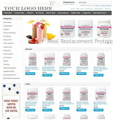 Health Supplement business reseller website for sale Start Your Home Business