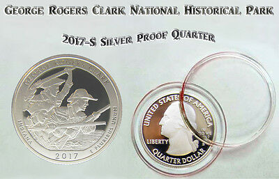 2017 S George Rogers Clark National Park Silver Proof ATB Quarter in Capsule