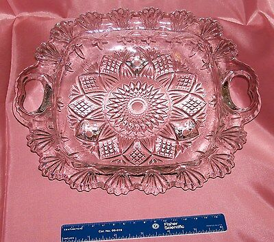 Pressed glass footed bowl.Pasari