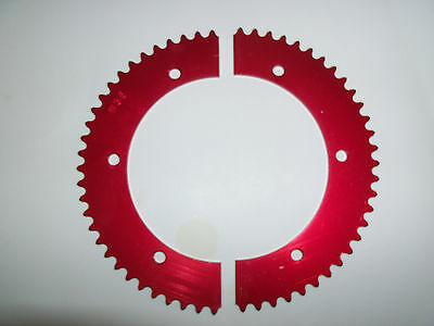 Rear Gear Mini Bike #35 Pitch Split Aluminum Red Anodized Sprocket Kart