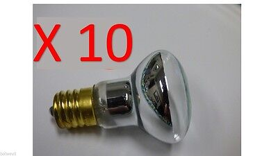 10 PACK R39 E17 LAVA LAMP REPLACEMENT BULB 30 WATT REFLECTOR TYPE Free shipping