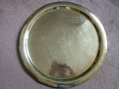 Antique  Solid Brass Charger Tray/ Table Top