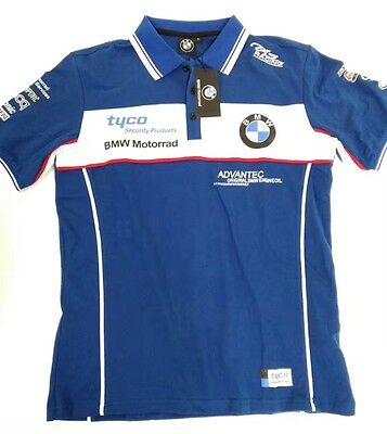 BMW BSB British Superbikes Motorcycle Team Cotton Polo Man's Shirt 2016