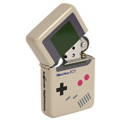 Nicotine Boy Lighter Console Game Boy Parody Windproof Flip Top Refillable