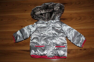 Tommy Hilfiger girls silver autumn winter coat 6-9 months *I'll combine postage