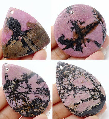 Unique Picture stripe Rhodonite agate drusy jasper gemstone pendant bead