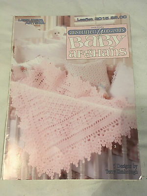 ABSOLUTELY GORGEOUS BABY AFGHANS book 4 LEISURE ARTS #3015 pattern LEAFLET